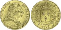 France 20 Francs Louis XVIII - 1814 W Lille - Gold