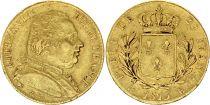 France 20 Francs Louis XVIII - 1815 K Bordeaux Or - 5/4