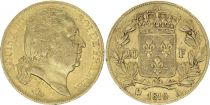 France 20 Francs Louis XVIII - 1816 A Or