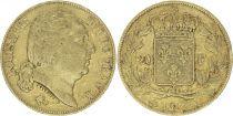 France 20 Francs Louis XVIII - 1817 Q Perpignan 2 em ex