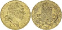 France 20 Francs Louis XVIII - 1817 Q Perpignan