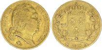 France 20 Francs Louis XVIII - 1818 A Paris Gold