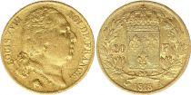 France 20 Francs Louis XVIII - 1818 A Paris Or