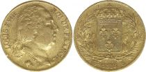 France 20 Francs Louis XVIII - 1818 W Lille