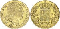 France 20 Francs Louis XVIII - 1819 A Paris Or