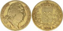 France 20 Francs Louis XVIII - 1824 A Or