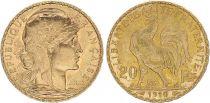 France 20 Francs Marian - Rooster 1910