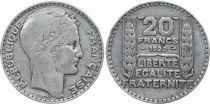 France 20 Francs Marian with laureate head -1929