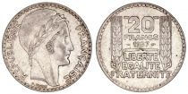 France 20 Francs Marian with laureate head -1937