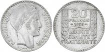 France 20 Francs Marian with laureate head -1938