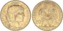 France 20 Francs Marianne - Coq 1912 - Gold