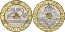 France 20 Francs Mont Saint-Michel - années 1992 à 2001
