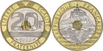 France 20 Francs Mont Saint-Michel - années 1992 à 2001