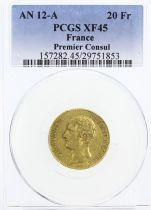 France 20 Francs Napoleon Consul - An 12 A Paris - PCGS XF 45