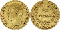 France 20 Francs Napoleon Empereur - An 14 A Gold