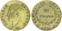 France 20 Francs Napoleon Empereur - An 14 A Gold