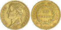 France 20 Francs Napoleon I  1808 A - Gold - aVF - Type Republic