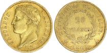 France 20 Francs Napoleon I  1808 A - Gold - VF - Type Republic