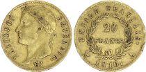 France 20 Francs Napoleon I  1810 A - Gold - aVF - Type Empire