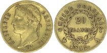 France 20 Francs Napoleon I  1812 A - Gold - VF - Type Empire