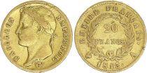 France 20 Francs Napoleon I  1813 A - Gold - aVF - Type Empire