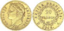 France 20 Francs Napoléon I 1812 A Paris Or - p.TTB Type Empire
