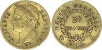 France 20 Francs Napoléon I 1812 A Paris Or - TTB Type Empire