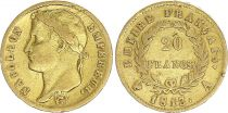 France 20 Francs Napoléon I 1813 A Paris Or - p.TTB Type Empire