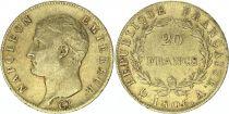France 20 Francs Napoleon I Empereur - 1806 A Paris Gold