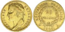 France 20 Francs Napoleon I Empereur - 1808 A Paris Gold