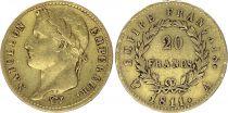 France 20 Francs Napoleon I Empereur - 1811 A Paris Gold