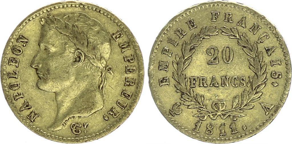 France 20 Francs Napoleon I Empereur - Gold - Mixed dates