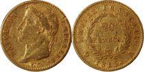 France 20 Francs Napoleon I Empereur - Laureate head 1815 A - 100 Days