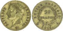 France 20 Francs Napoléon I Empereur  Or - millésimes variées