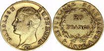 France 20 Francs Napoleon I Empereur 1806 A Paris