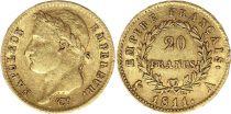 France 20 Francs Napoléon I Empereur 1811 A Paris Or