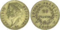 France 20 Francs Napoléon I Tête laurée - 1812 W Lille - Or