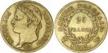 France 20 Francs Napoléon I Tête laurée - 1813W Lille - Or