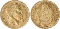 France 20 Francs Napoléon III - Tête Laurée 1869 A - Or