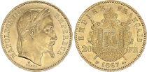 France 20 Francs Napoleon III 1868 BB Strasbourg - Gold - XF