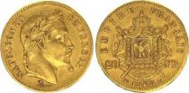 France 20 Francs Napoléon III Tête Laurée - 1868 BB Strasbourg