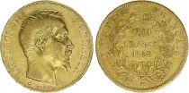 France 20 Francs Napoléon III Tête nue - 1858 BB Strasbourg Or