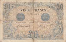 France 20 Francs Noir - 15-06-1904 Série D.454 - B
