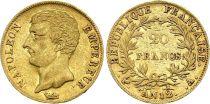 France 20 Francs Or Napoléon Empereur - An 12 A Paris
