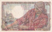 France 20 Francs Pêcheur -  05-07-1945 - Série V.145 - SUP