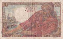 France 20 Francs Pêcheur -  07-10-1943 - Série J.101 - TTB