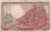 France 20 Francs Pêcheur -  07-10-1943 - Série K.103 - TB