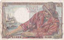 France 20 Francs Pêcheur -  09-01-1947 - Série O.158 - TTB