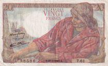France 20 Francs Pêcheur -  28-01-1943 - Série T.61 - TTB
