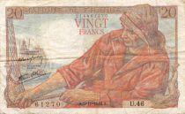 France 20 Francs Pêcheur - 05-11-1942 Série U.46 - TB+